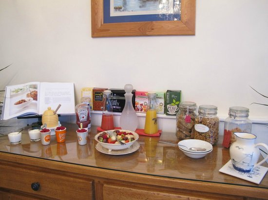 St Michael's Bed & Breakfast:                   Cereal, Fruit and Juice selection