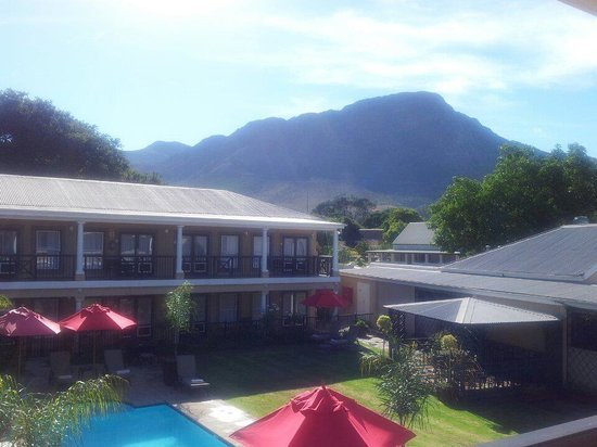 Protea Hotel Franschhoek:                   View from Conference balcony