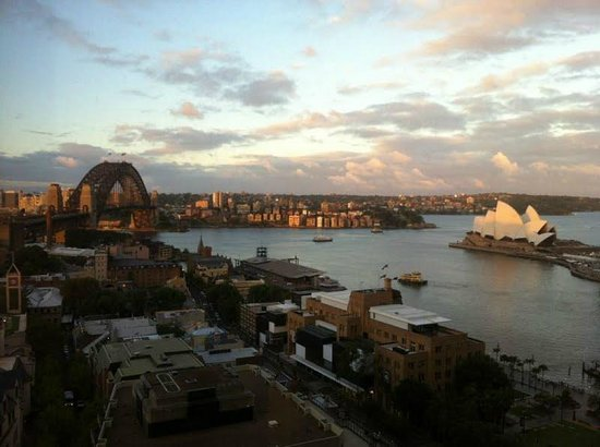 Four Seasons Hotel Sydney:                   View from room 2309 (full harbourside deluxe room)