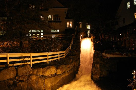 The Inn at Mill Falls:                   Mill at night