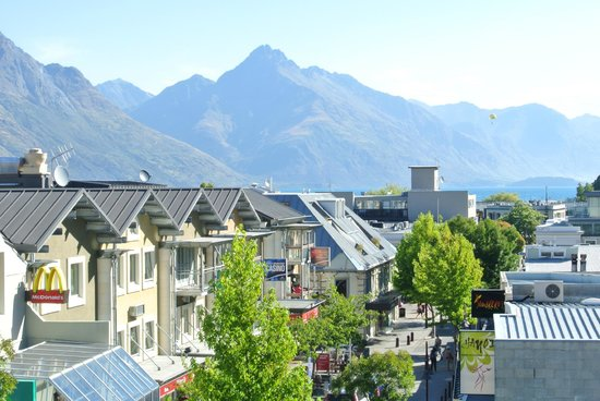 "Adventure Queenstown Hostel:                   View from the balony of ""Justine's Room,"" one of the private rooms"