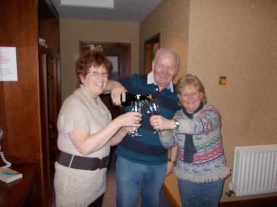 Mount Errigal Hotel:                   Neil, Nell and Annette celebrate an anniversary