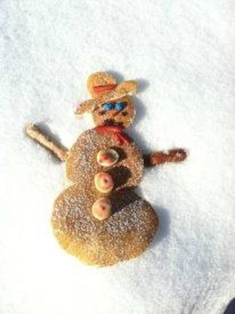 "Sierraville, CA: ""Frosty the Snowman"" Pancakes, too cute!!!!"
