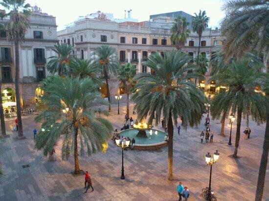 View from our balcony picture of roma reial hotel - Hotel reial barcelona ...