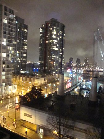 YWCA Hotel Vancouver: View at night along W. Georgia Street