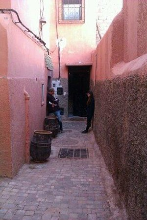 Riad Ajebel:                   The back entrance.