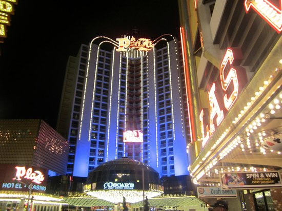 Plaza Hotel & Casino:                                     View of hotel from Fremont St.