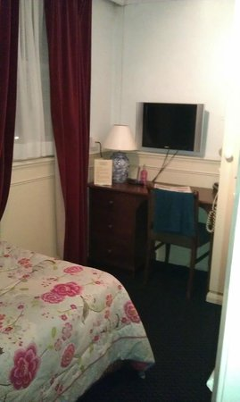 Garden Court Hotel:                   Room No 3 single en-suite: small but good value