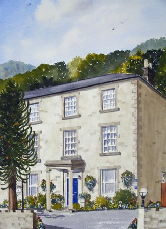 Local artist&#39;s painting of Ashdale Guest House
