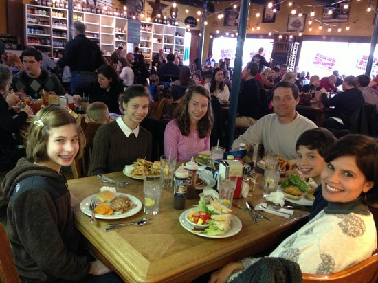 Franklin, TN: The family enjoying a good lunch!