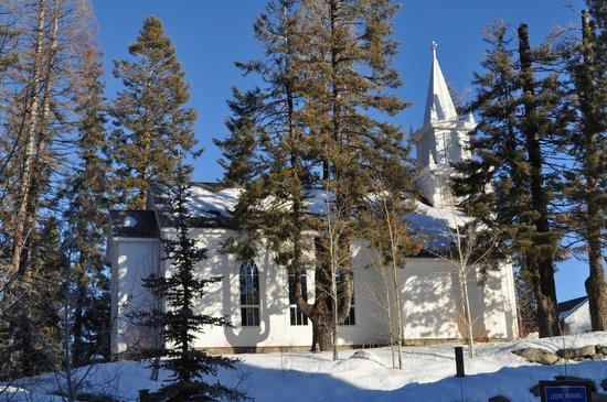 Donnelly, Idaho:                   Beautiful church at Tamarack Resort