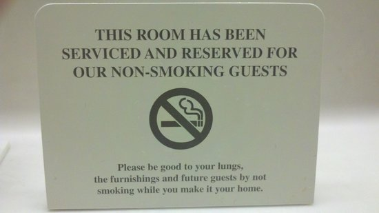Microtel Inn & Suites by Wyndham Charlotte/Northlake: No Smoking sign