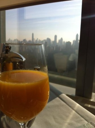 Mandarin Oriental, New York:                   Breakfast with a view!
