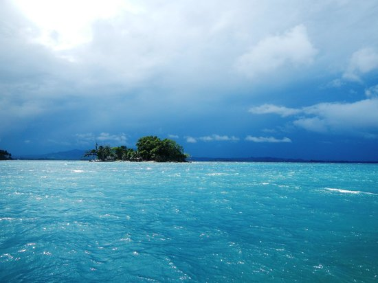 Madang, Papua New Guinea:                   The sea in front of Jais Aben Resort