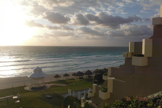 Paradisus Cancun:                   Ocean view from the room.