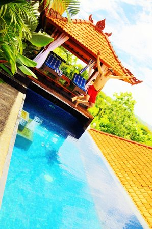 Jimbaran Cliffs Private Hotel & Spa:                                                       our private pool time!