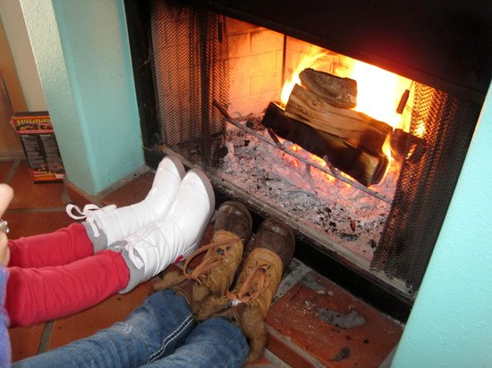 Burch Street Casitas:                                     Warming their feet