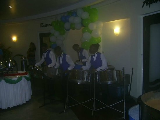 Sonesta Great Bay Beach Resort & Casino:                   Young Steel Band Players