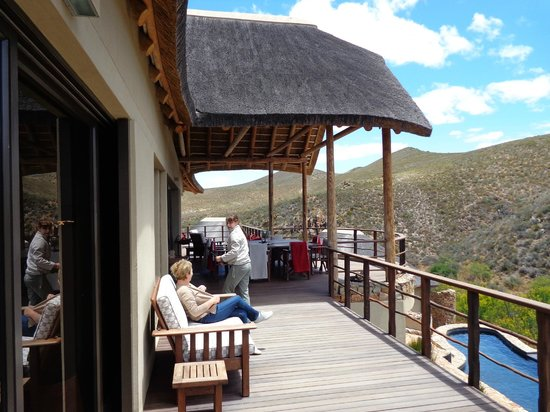 White Lion Lodge:                   Relaxen auf der Terrasse