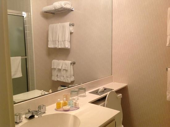 Bell Tower Hotel: Basic bathroom