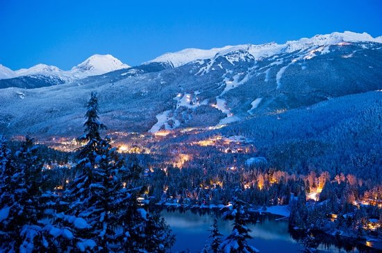 Whistler, Canada:                   Blackcomb Mountain at dusk / Photo credit: Mike Crane