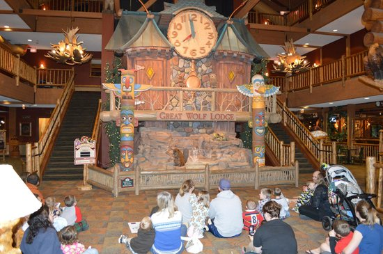 Great Wolf Lodge:                   The Clock