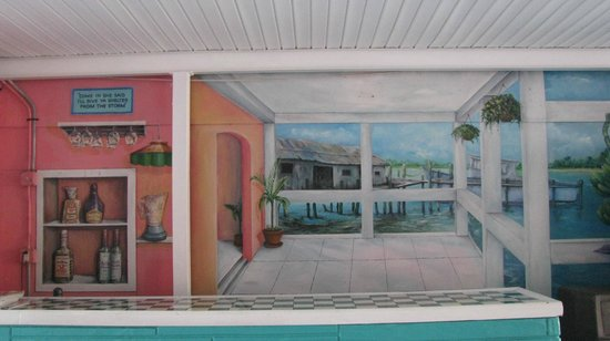 Caribbean Shores Hotel & Cottages:                   Another mural.
