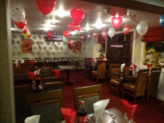 Dronfield, UK:                   restaurant inside view..