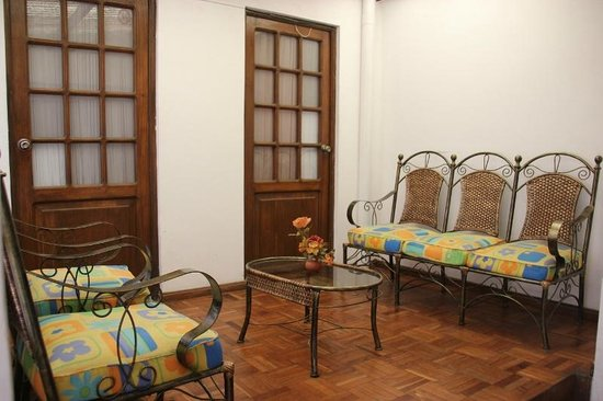 Santa Cecilia:                   Sitting area in front of two bedrooms (the ones that have shared bathrooms)