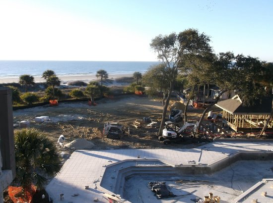 Omni Hilton Head Oceanfront Resort:                   Ocean View / Pool construction