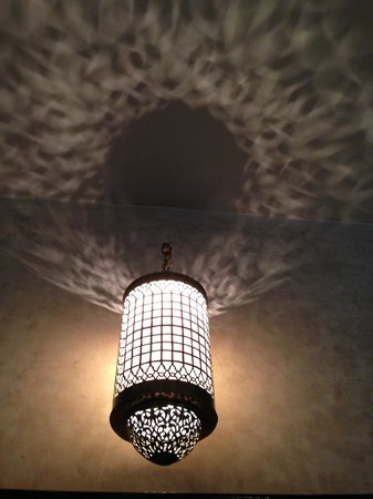 Riad Joya:                   beautiful lights everywhere
