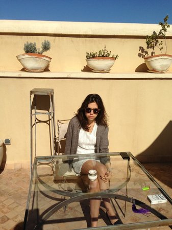 Riad Joya:                   roof terrace