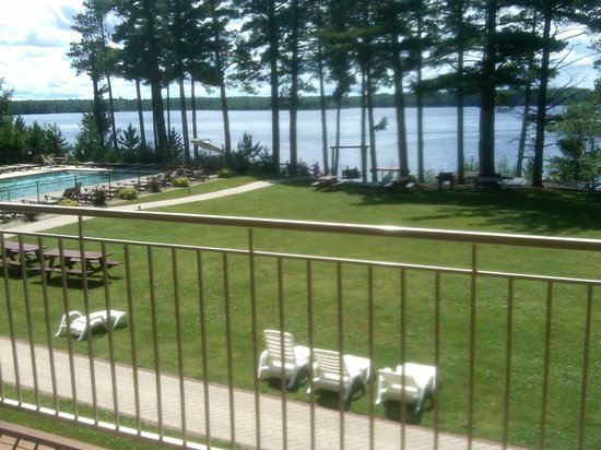 Eagle River, WI:                   2nd Floor Lodge Lake/Pool View