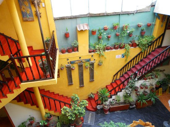 Hostal Cusi Wasi:                   escaleras