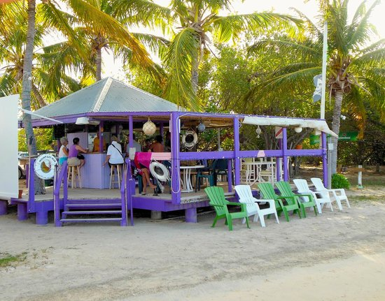 Beef Island Guest House:                   open air bar