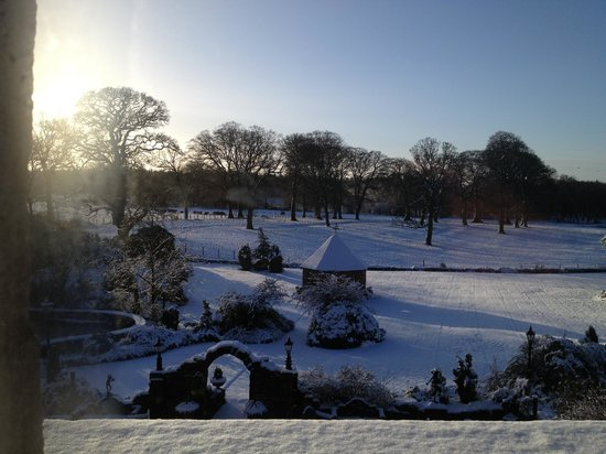 Clarencefield, UK:                   view from the room