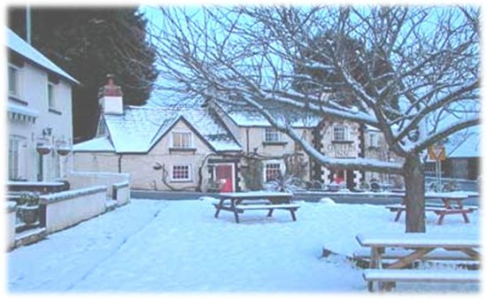 Llyswen, UK: The Griffin inn Winter