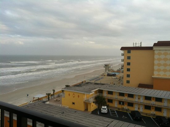 Tropic Sun Towers Condominium:                   View from Unit 706 - to the right is a view of the A1A