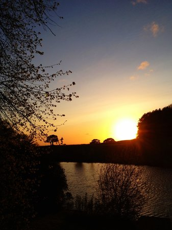 Macclesfield, UK:                   Sunset over beautiful shrigley hall