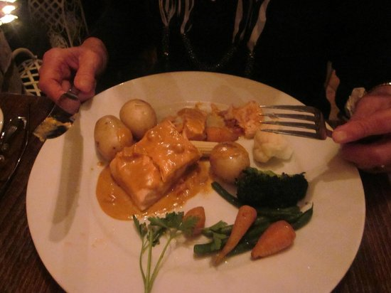At Tristans: Main Course  salmon
