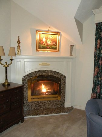 Nordic Village Resort: gas fireplace