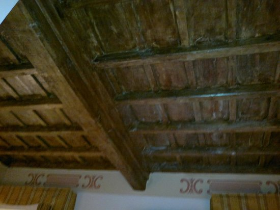 Hotel San Carlo:                   Rustic Ceiling of my room