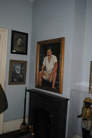 The Ernest Hemingway Home and Museum: painting of how Ernest Hemingway looked while in KW