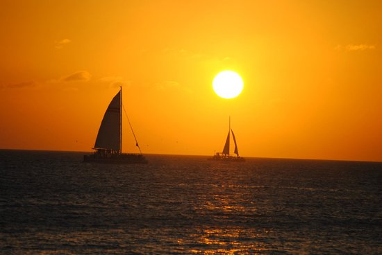 Mallory Square: Sunset & Sailboat