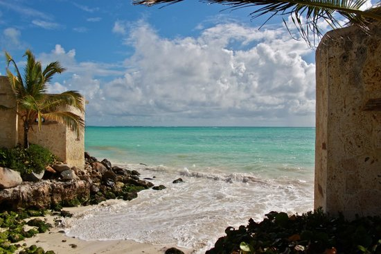 Sanctuary Cap Cana:                   Beach view from near our villa