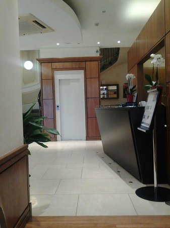 Duke of Leinster Hotel:                   Reception Area (were sitting in a waiting area)