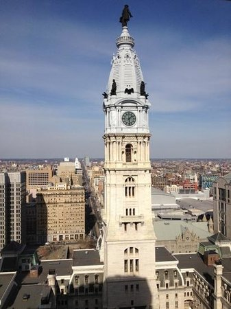 Ritz-Carlton Philadelphia:                   view from our room, #2502