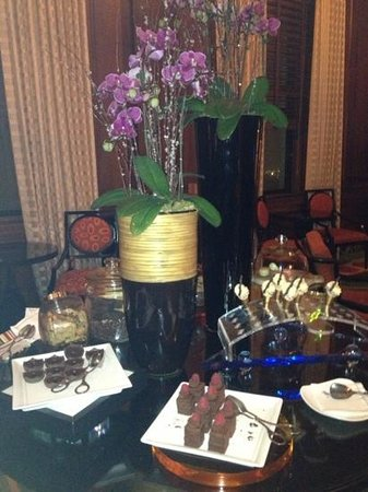 Ritz-Carlton Philadelphia:                   dessert treats on the Club Level