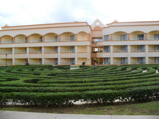 Heaven at the Hard Rock Hotel Riviera Maya:                   Hotel and Maze on the Cove Side