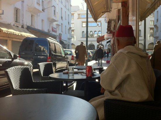 Cafe Next To Hotel Picture Of Hotel Splendid Rabat